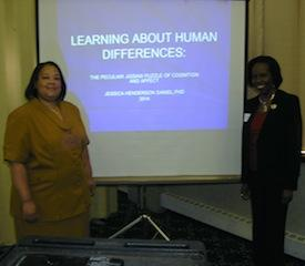 Past MPA President Tamara McKay, PhD, with recent conference speaker Jessica Henderson Daniel, PhD.