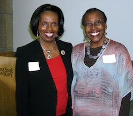 Conference speaker Jessica Henderson Daniel with MPA Board Member Josephine Johnson.