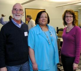 Dr. Anthony De Orio (MPA Program Committee Volunteer), Dr. Tamara McKay (2013 MPA Board President-Elect Candidate and Current MPA  Diversity Chair), and Dr. Stacey Gedeon (2013 MPA Board Secretary Candidate and Current MPA Board Secretary) take a break from the fabulous Nov. 9th Adventures on the Electronic Frontier: Ethics and Risk Management in the Digital Era Workshop Continuing Education Event.