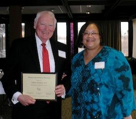 MPA SPRING CONVENTION - Bill Nicholson receives the MPA Fellow Award, with Tamara McKay