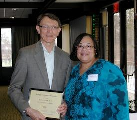 MPA SPRING CONVENTION - Andrew Kronk receives the MPA Fellow Award, with Tamara McKay