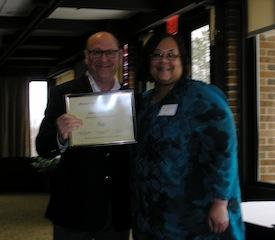 MPA SPRING CONVENTION - Steve Spector receives the MPA Fellow Award, with Tamara McKay