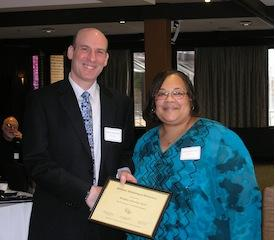 MPA SPRING CONVENTION - Bradley Axelrod receives the MPA Fellow Award, with Tamara McKay