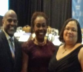 Cheval Breggins, Dr. Josephine Johnson, and Dr. Tamara McKay at the 2104 State Leadership Conference in Washington, DC.