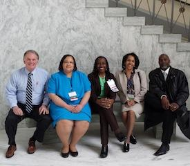 Dr. Dane K Ver Merris, Dr. Tamara McKay, Dr. Josephine Johnson, Nicole M. Escoe, and Cheval Breggins at the 2104 State Leadership Conference in Washington, DC.