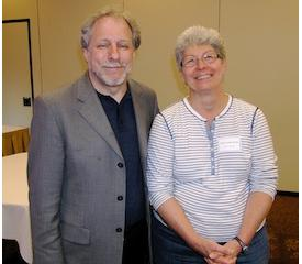 Steven Walfish, MPA May conference presenter, with MPA Treasurer Debra Smith.