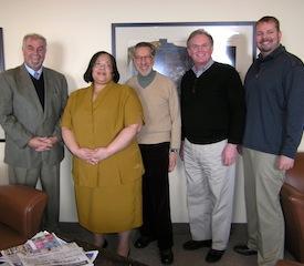 LaVone Swanson, Past President Tamara McKay, new APA Council Representative Lawrence Perlman, Dane VerMerris, and Jared Skillings.