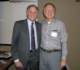 Spring convention speaker Peter Lichtenberg, PhD, with Mark Kane, PhD.