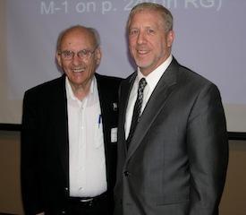 Jerome Sattler, PhD, with MPA Ethics Chair Alan Lewandowski, PhD.