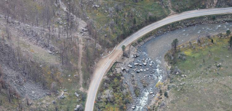 High Park Fire Debris Flow Mitigation Fly Over (Dornfest)