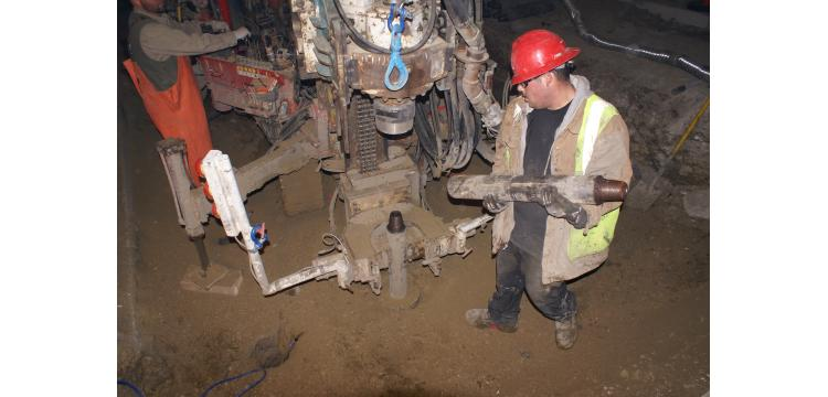 Drilling for micropile installation, Golden, CO - Michael W. West and Assoc., Inc.