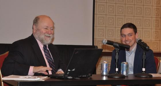 Ronald Hambleton (L) interviewed by Daniel Jurich (R)